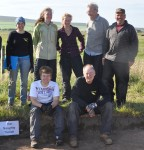 Some of the 2012 volunteers enjoy a photo opportunity.