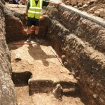 Medieval remains uncovered on the site. Image: University of Leicester