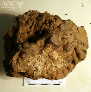 Smelting slag. Image: AOC Archaeology Group