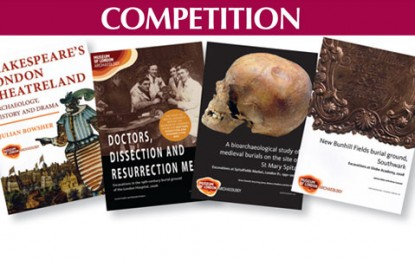 Win 4 books from Museum of London Archaeology