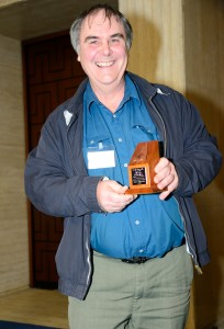 Keith Parfitt, of Canterbury Archaeological Trust, who won this year's prize for Rescue Dig of the Year, for the Trust's work at Folkestone Roman villa, presented at the prestigious Current Archaeology Awards