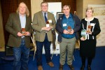 The four winners of this year's prestigious Current Archaeology Awards. L-R: Phil Harding (Archaeologist of the Year), Richard Buckley (Research Excavation of the Year, for the search for Richard III), Keith Parfitt (Rescue Dig of the Year, presented to Canterbury Archaeological Trust for their work at Folkestone Roman villa), and Rebecca Jones (Book of the Year - Roman Camps in Britain)