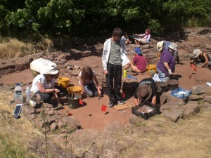 Excavating and recording the post Medieval floors