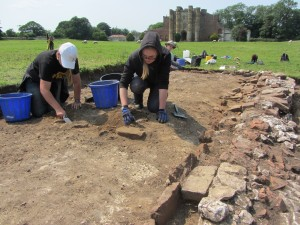 Excavation of a glazier's workshop in 2013 ©University of Sheffield