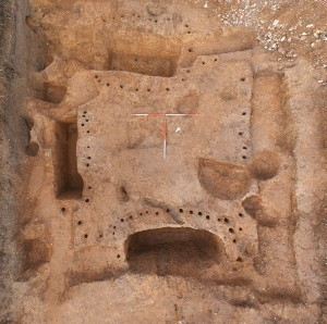 Some of the fenced graves. Image: Colchester Archaeological Trust