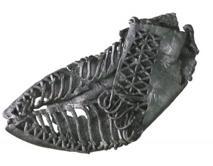 Well-preserved leather carbatina shoe. Image: MOLA