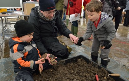 Roman in the snow: hundreds visit NW Cambridge Site open day