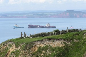 MSC Napoli aground in Lyme Bay