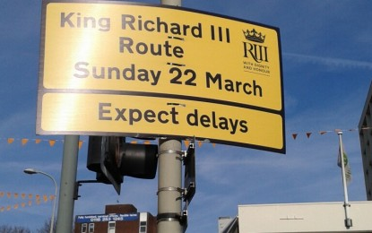 Return of the King: Richard III's remains are taken to Leicester cathedral