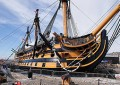 HMS Victory's true colours are shining through