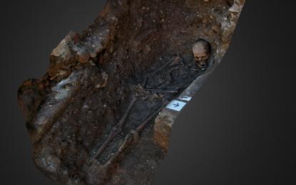 A model monarch: Richard III's grave recreated in 3D