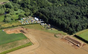 Aerial photograph of Sedgeford Middle Saxon settlement and industrial complex excavations. (Photo: Mike Page).
