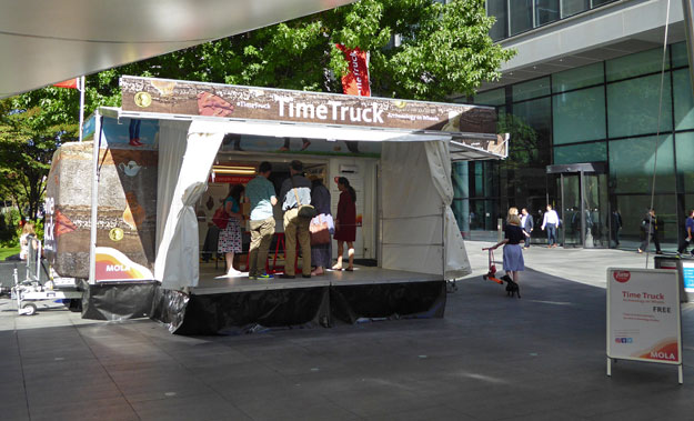 The Time Truck visits Bishops Square