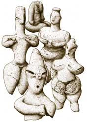 Neolithic clay figures