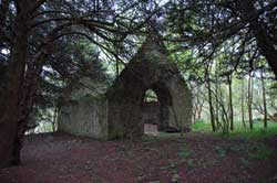Ruined chapel at Muchkersie, near Forteviot
