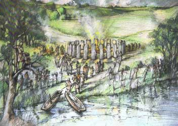 Reconstruction of Bluestonehenge by Peter Dunn